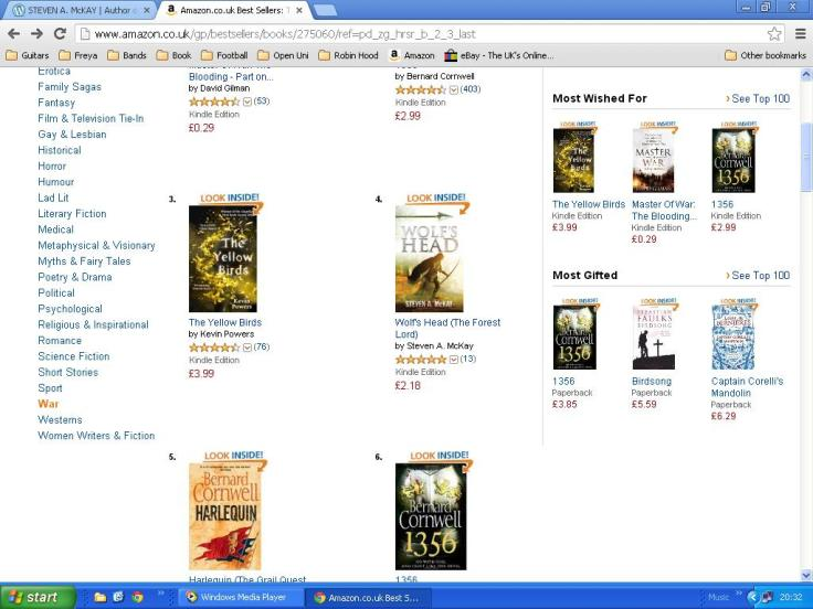 Sandwiched by Bernard Cornwell!