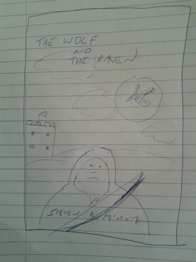 Original artwork for The Wolf and The Raven