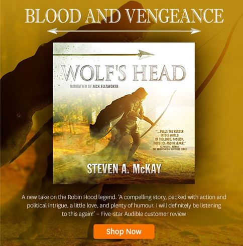 WOLF'S HEAD audible newsletter ad
