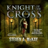 The Knight of the Cross cover for the Audible version.