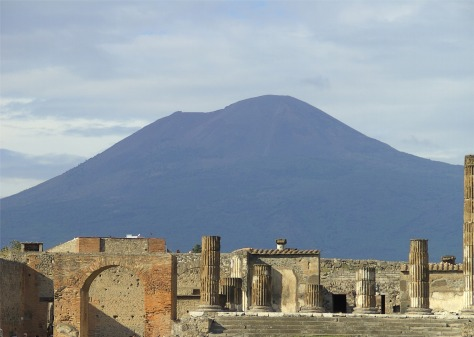 Pompeii and Vesuvius, image by High Contrast