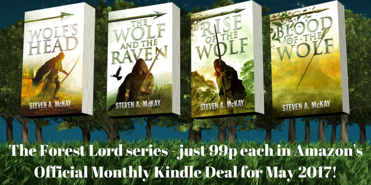 The Forest Lord series - just 99p each in Amazon's Monthly Kindle Deal for May 2017!